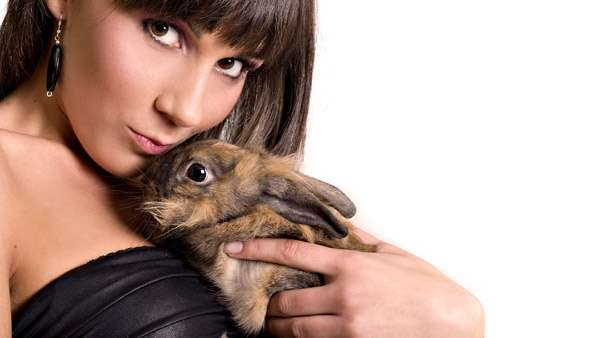 Девушка с кроликом, фото фотография новости о животных