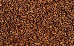 Зерна черного кофе