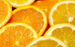 Дольки апельсина и лимона