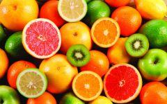 Лайм, апельсин, грейпфрут и киви