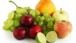 Яблоки, виноград, сливы, лайм